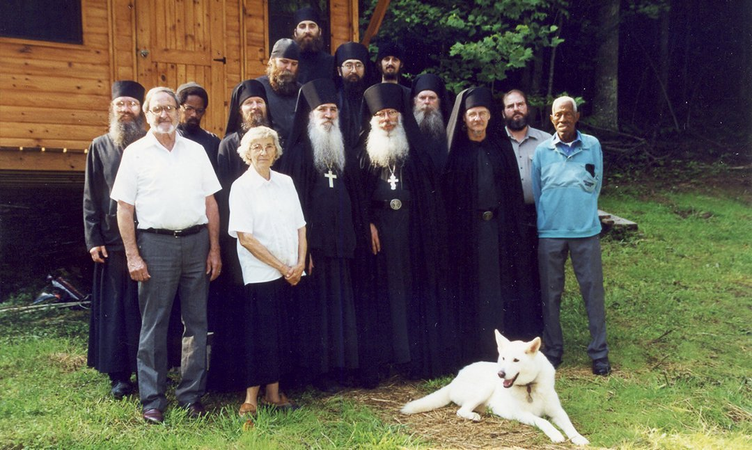 Moe & Nadya Sill with Cyril and the Monks of Holy Cross Monastery